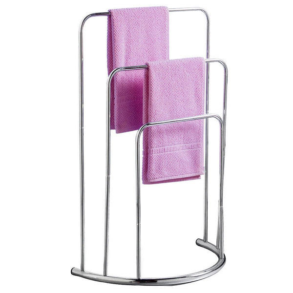 Towel Stand Rail Rack Drying Airing Bathroom Storage rectangular 3 Tier Bar