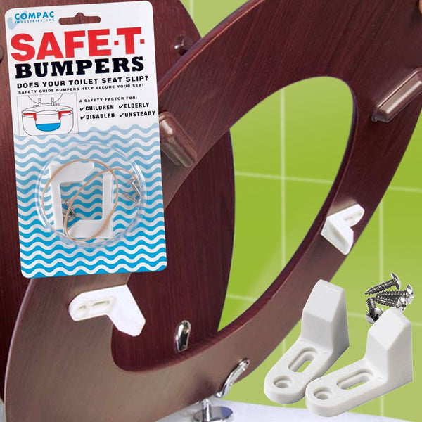 Safe-T-Bumpers - Wobbly Toilet Loo Seat Stabilisers - Stop Slipping or Sliding