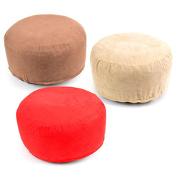 Inflatable Foot Rest Furniture Stool Pouffe Pillow Brown / Red / Beige
