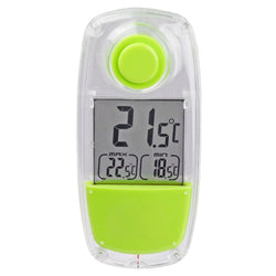 Digital Solar Powered Window Thermometer Suction Cup Indoor Outdoor Garden LCD