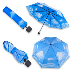 Sunny Day Umbrella: Under Sunshine Skies Even When It's Raining!  Compact, Manual Opening.