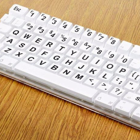 Full Set of Large Print Computer Keyboard Stickers - Ideal  For Partially Sighted People