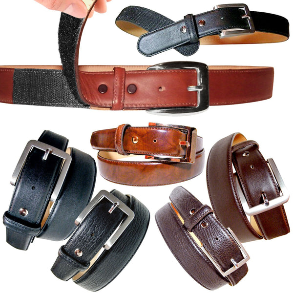 AbleBelt Genuine Leather Disability Belt Velcro Easy Fit Hook & Loop Fastenings