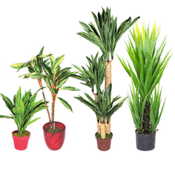 Artificial Potted Pot Plant Yukka Dracaena Synthetic Plastic Imitation Fake