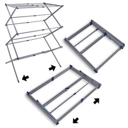 Telescopic Extending Folding Clothes Horse Rack: Extendable Airer Dryer That Extends to Almost Twice its Folded Length