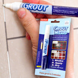 White Tile Grout Repair Pen - Anti Mould Tiling Whitener Cleaner Reviver