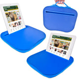Viewable Angle Tablet Holder Tray With Padded Cushioned Base in Blue, Green or Pink