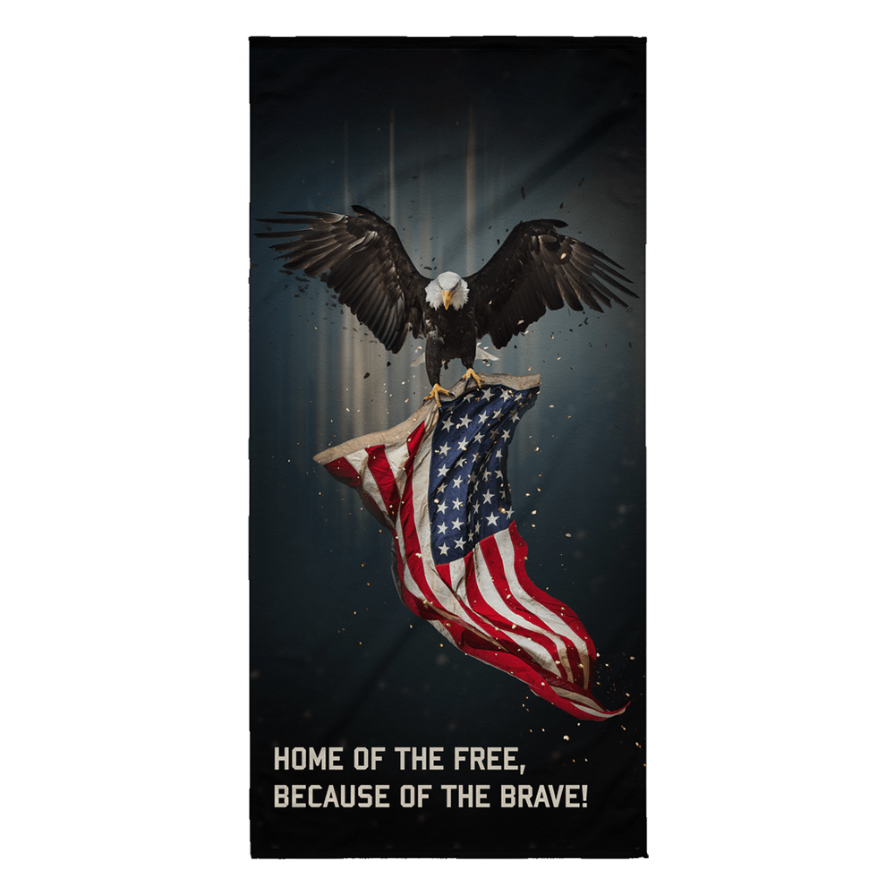U.S. Military Home of The Free Beach Towel | Heroic Defender