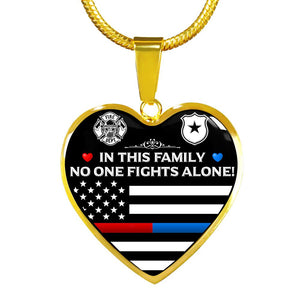 Firefighter & Law Enforcement Family Necklace | Heroic Defender