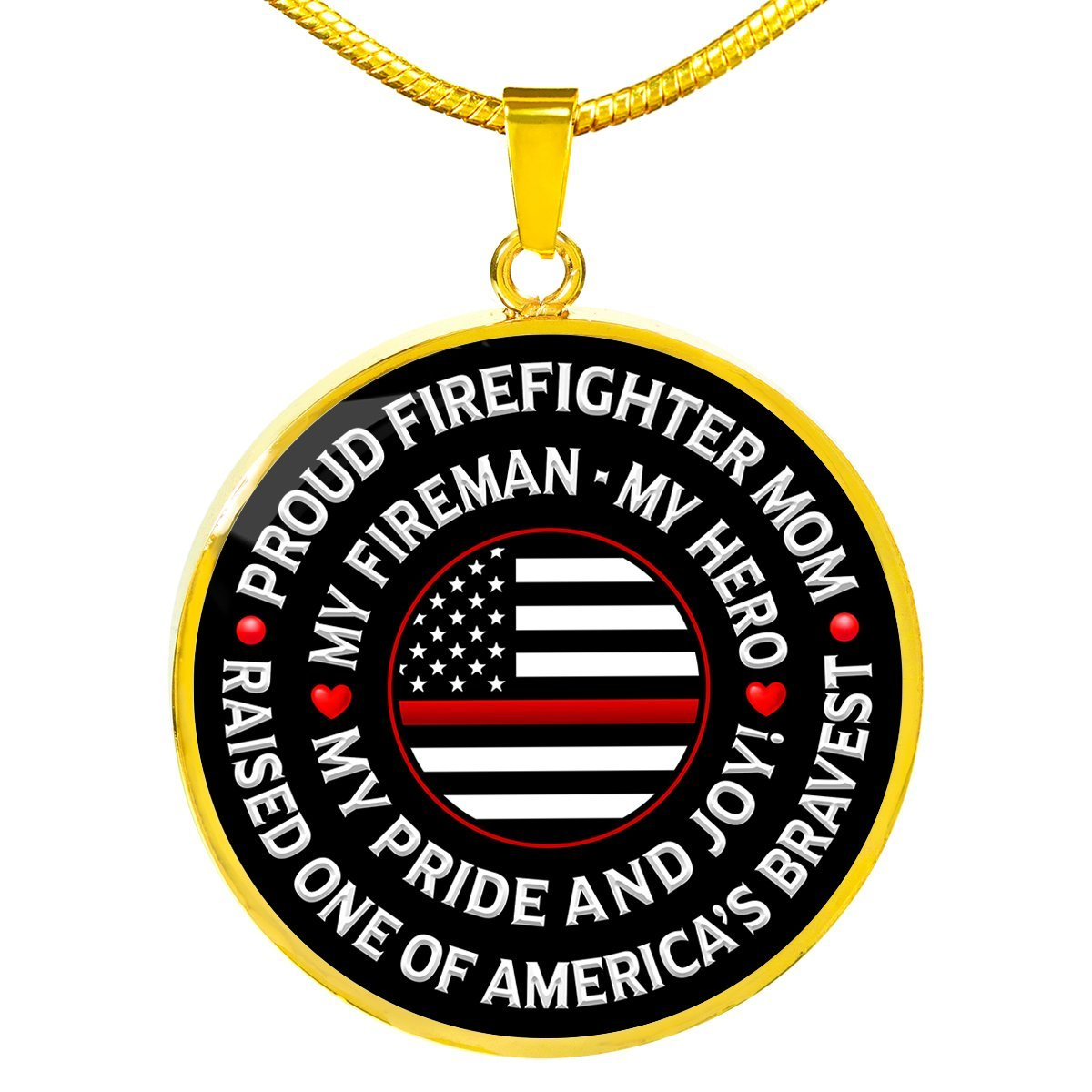 "Firefighter Mom ""Pride and Joy"" Necklace 