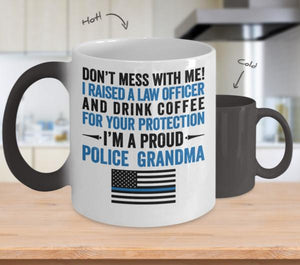 Proud Police Grandma Color Changing Magic Mug | Heroic Defender