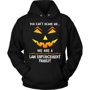 We Are a Law Enforcement Family Halloween Sweatshirt - Heroic Defender