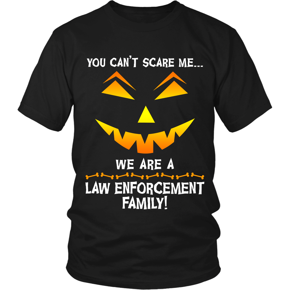 We Are a Law Enforcement Family Halloween Shirt - Heroic Defender
