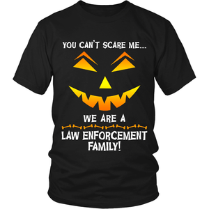 We Are a Law Enforcement Family Halloween Shirt
