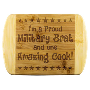 Military Brat & Amazing Cook Cutting Board | Heroic Defender