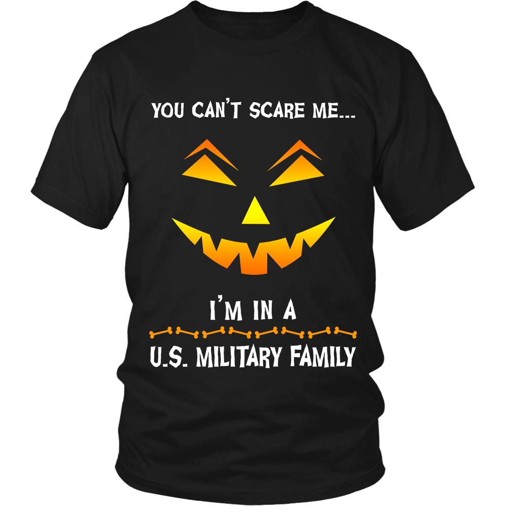 You Can't Scare Me Military Halloween Shirt | Heroic Defender