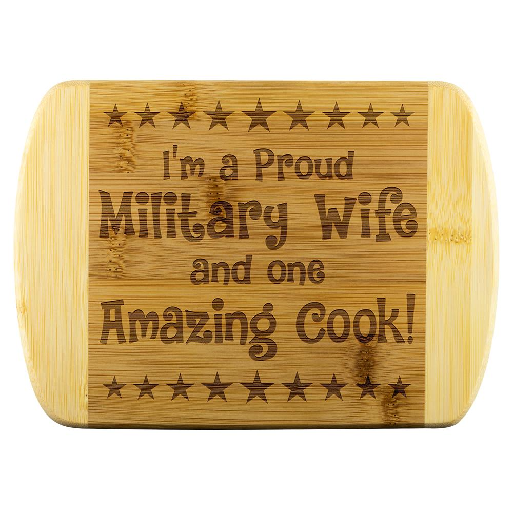 Military Wife & Amazing Cook Cutting Board | Heroic Defender