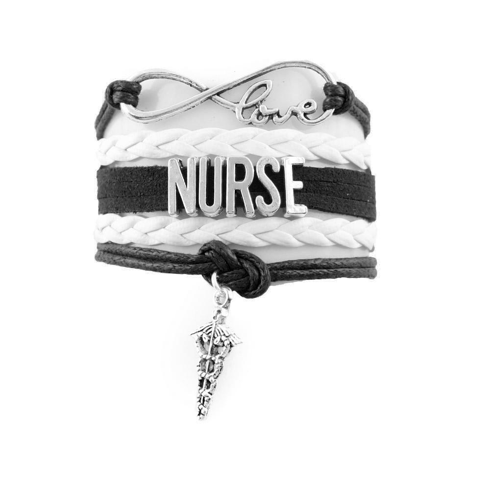 Nurse Infinity Love Bracelet With EMS Charm | Heroic Defender