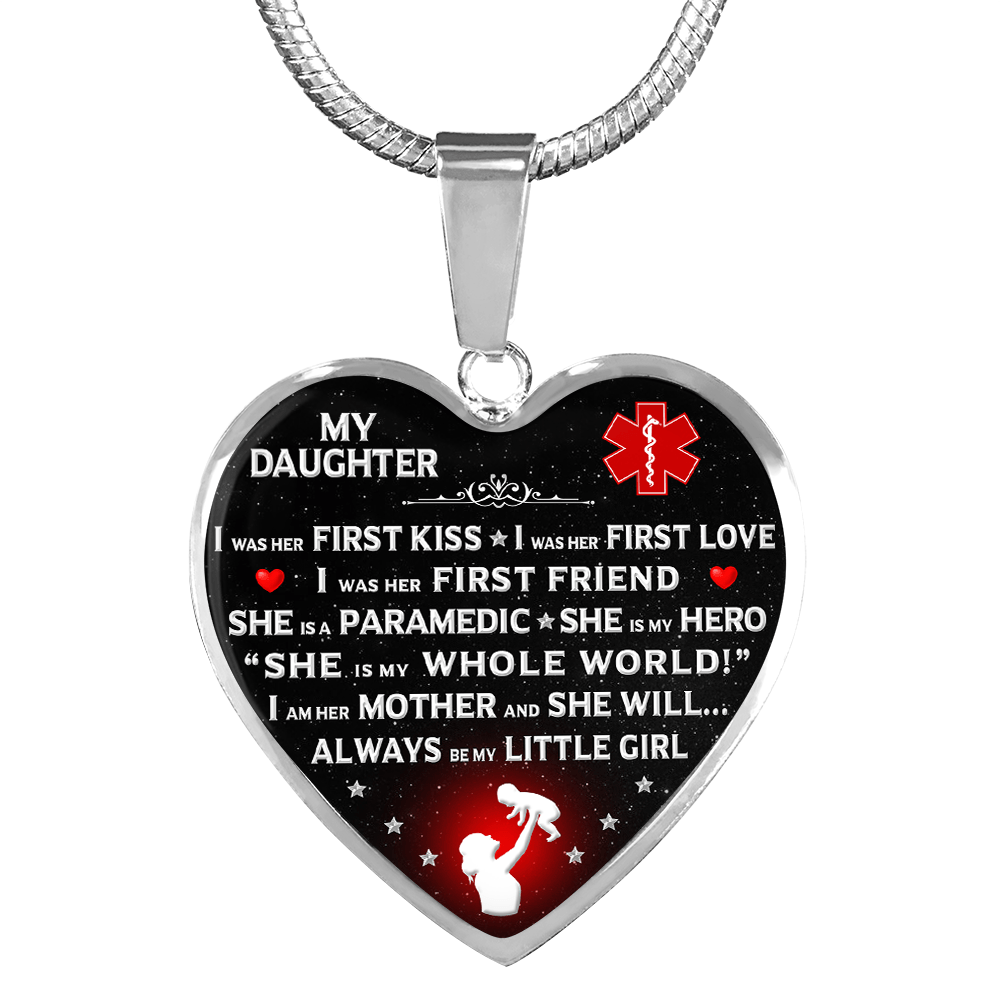 "Paramedic Mom ""I Am Her Mother"" Heart Necklace 