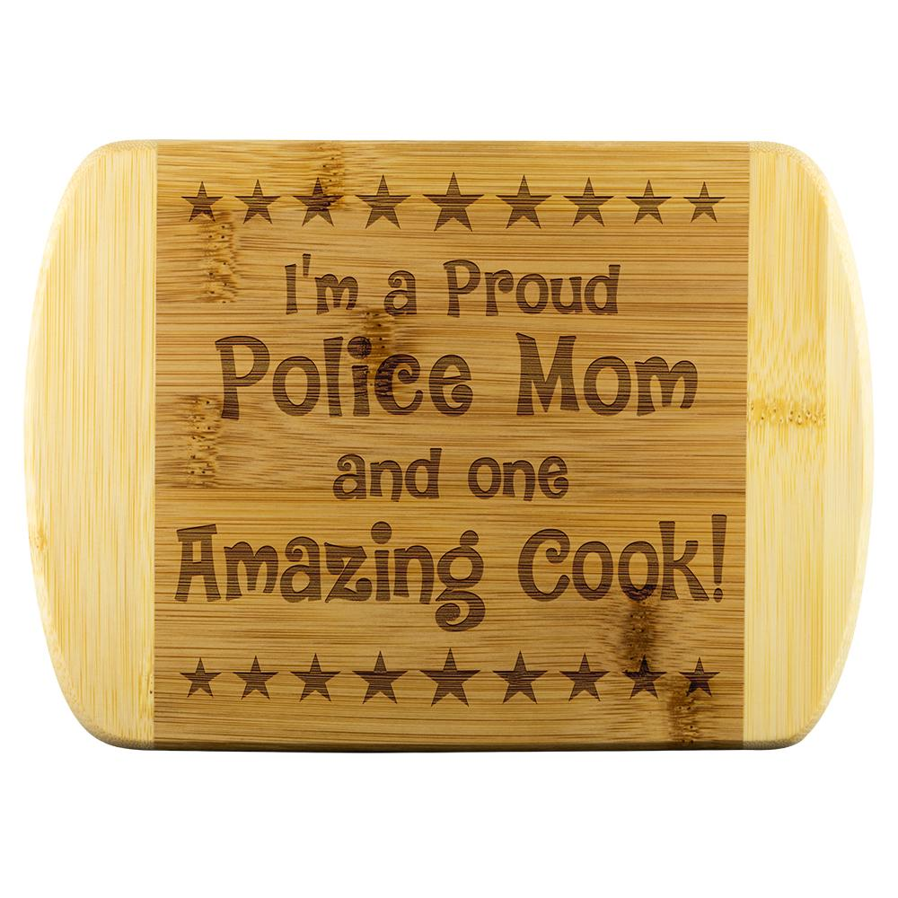 Police Mom & Amazing Cook Cutting Board | Heroic Defender