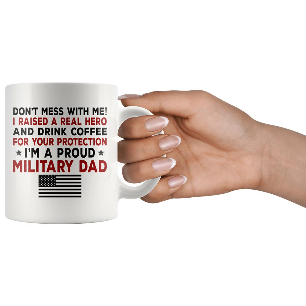 Proud Military Dad Coffee Mug | Heroic Defender