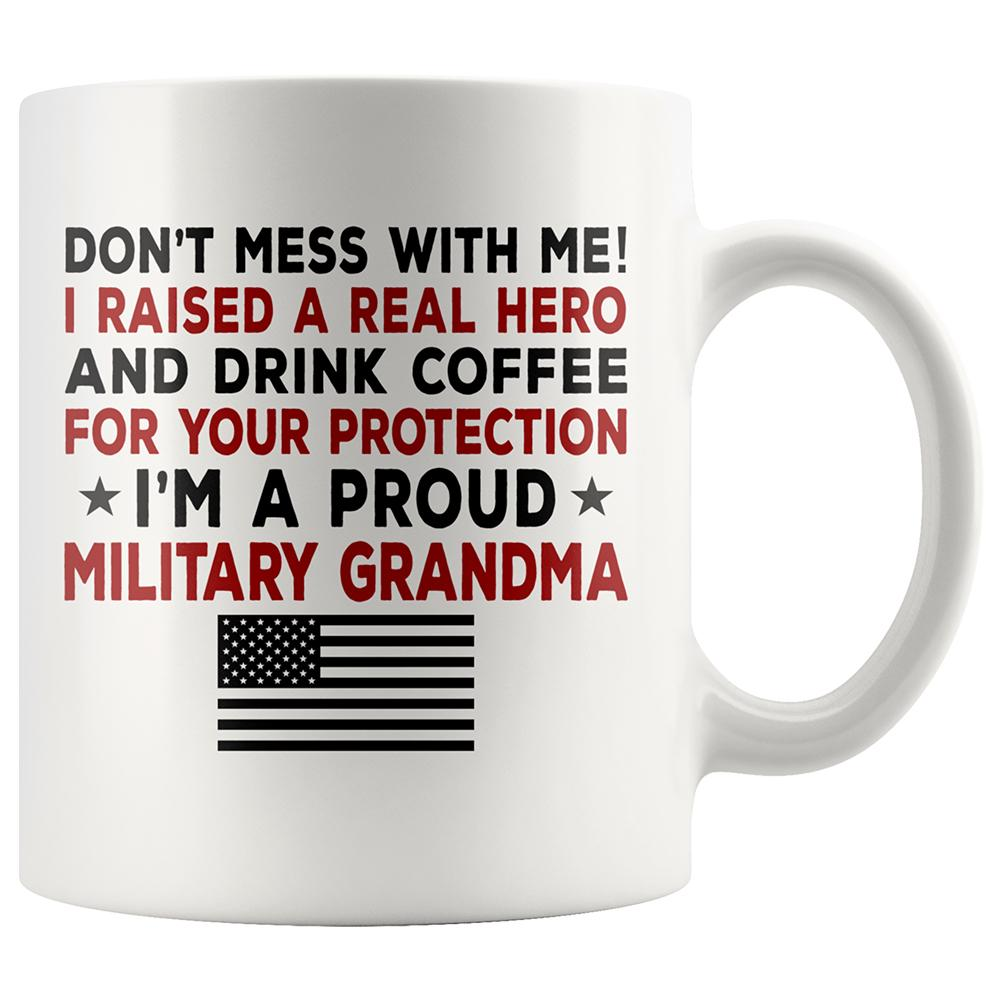 Proud Military Grandma Coffee Mug | Heroic Defender