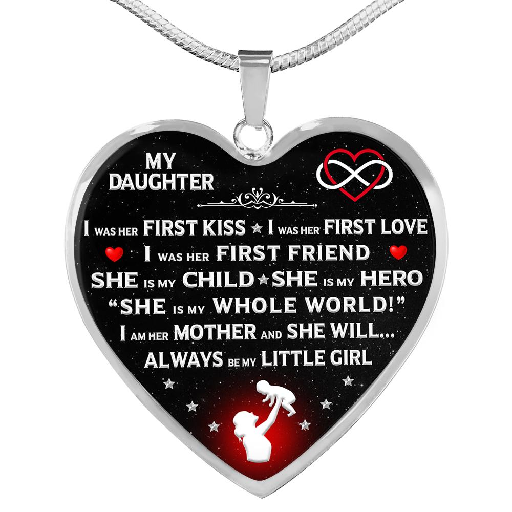 "Proud Mom ""I Am Her Mother"" Heart Necklace 