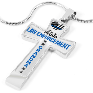Proud Law Enforcement Grandma Cross Necklace | Heroic Defender