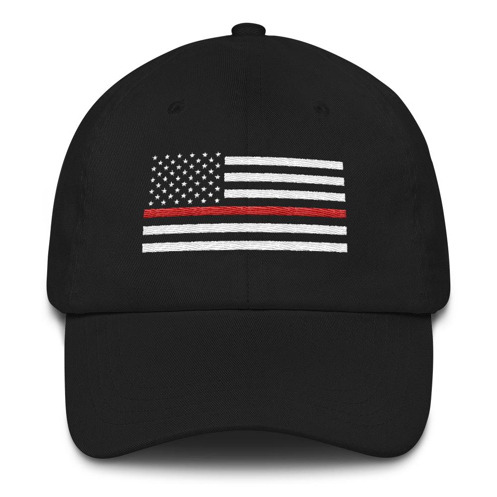 Thin Red Line Flag Baseball Cap | Heroic Defender