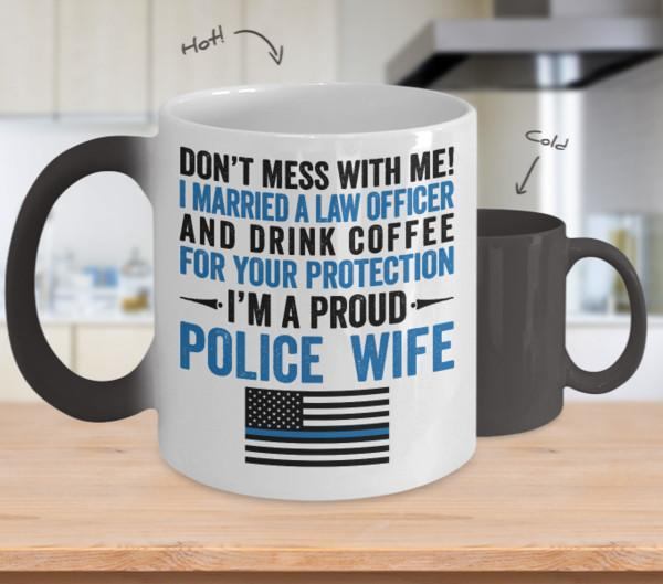 Proud Police Wife Color Changing Magic Mug - Heroic Defender