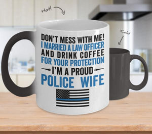 Proud Police Wife Color Changing Magic Mug | Heroic Defender
