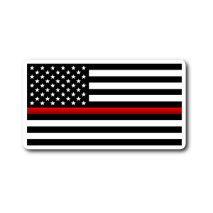 Thin Red Line Flag Vinyl Decal Sticker