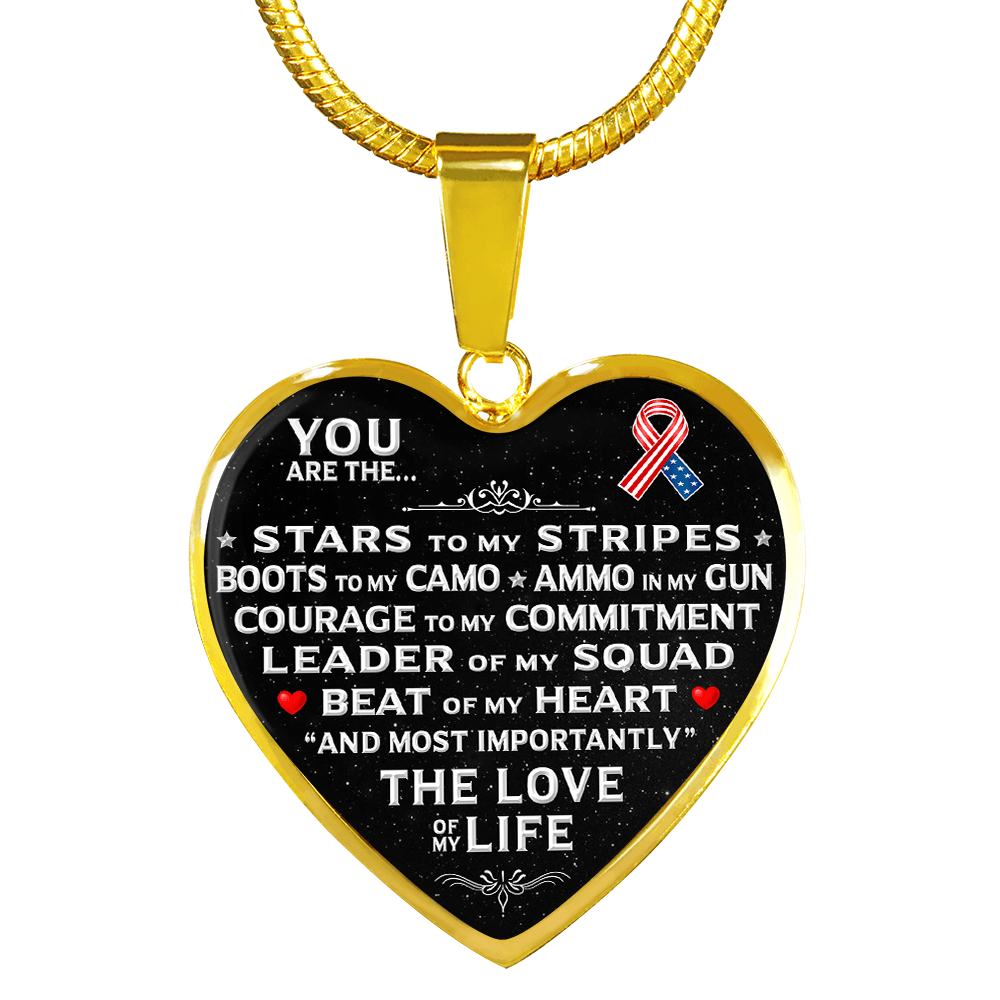 "You Are The ""Love Of My Life"" Military Necklace 