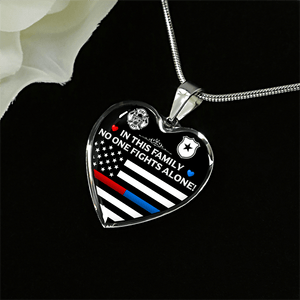 Firefighter & Law Enforcement Family Necklace - Heroic Defender