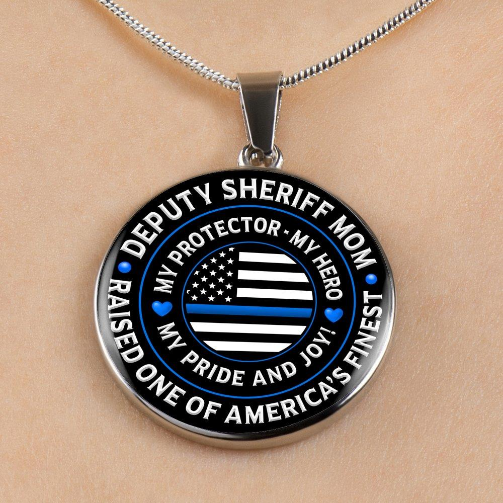 "Deputy Sheriff Mom ""My Pride and Joy"" Necklace 
