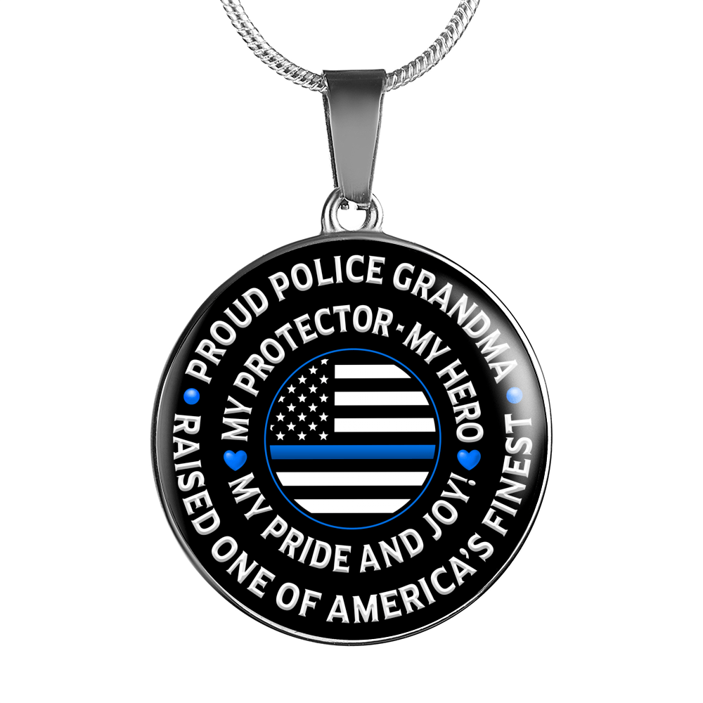 "Police Grandma ""Pride and Joy"" Necklace - Heroic Defender"