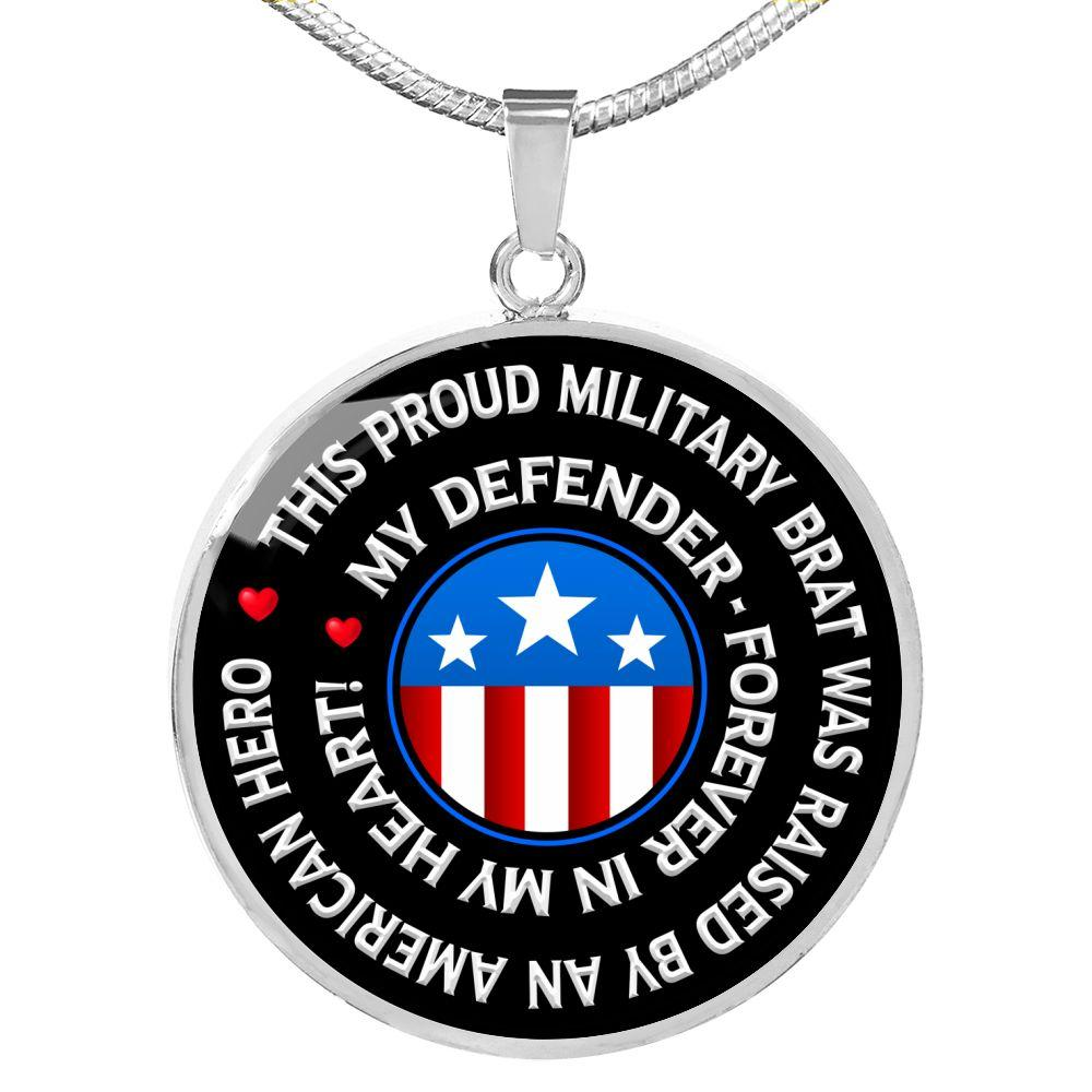 "Military Brat ""Forever In My Heart"" Necklace 