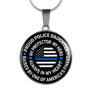 "Police Daughter ""Always In My Heart"" Necklace - Heroic Defender"