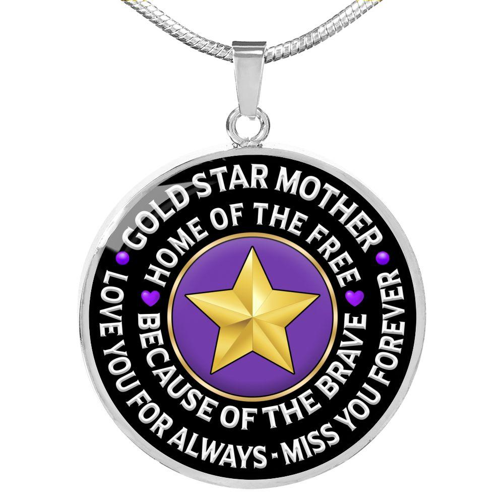 "Gold Star Mother ""Love You For Always"" Necklace 