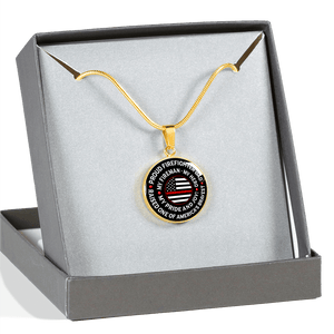 "Firefighter Dad ""Pride and Joy"" Necklace 