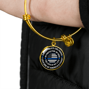 "Police Girlfriend ""Love of My Life"" Bangle Bracelet 