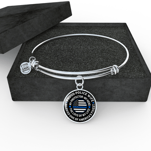 "Police Wife ""Love of My Life"" Bangle Bracelet - Heroic Defender"