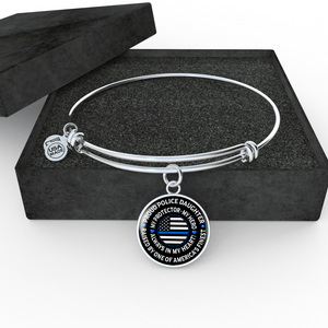 "Police Daughter ""Always In My Heart"" Bangle Bracelet - Heroic Defender"