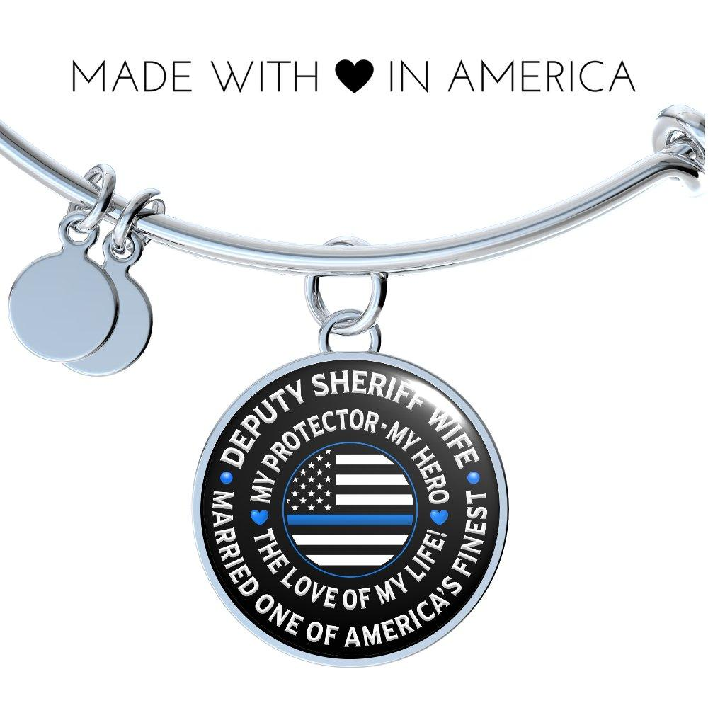 "Deputy Sheriff Wife ""Love of My Life"" Bangle Bracelet - Heroic Defender"