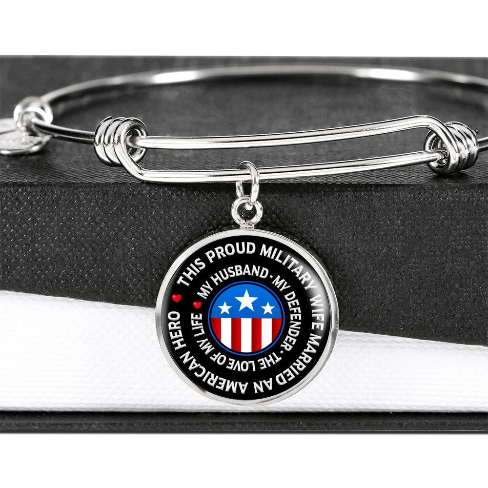 "Military Wife ""Love of My Life"" Bangle Bracelet 