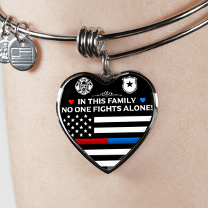 Firefighter and Law Enforcement Family Bangle Bracelet | Heroic Defender