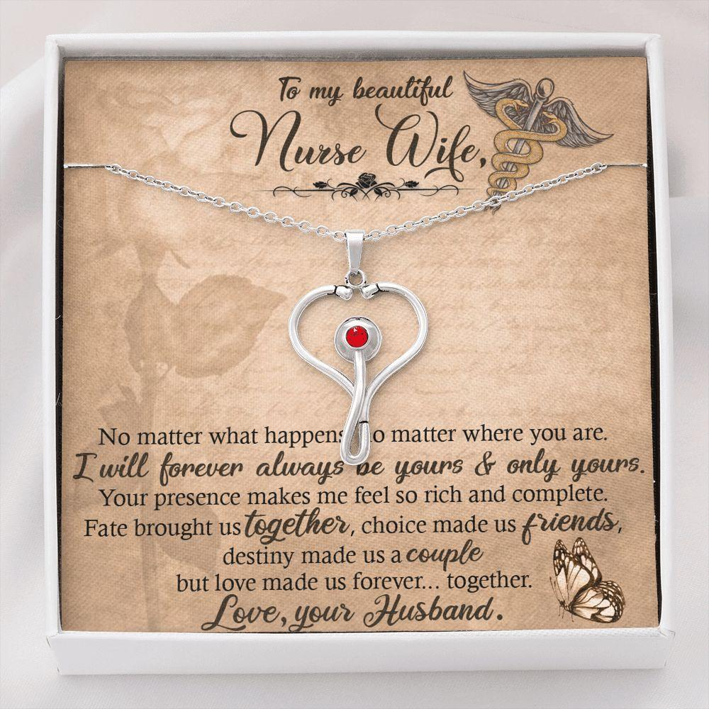 Beautiful Nurse Wife Stethoscope Necklace