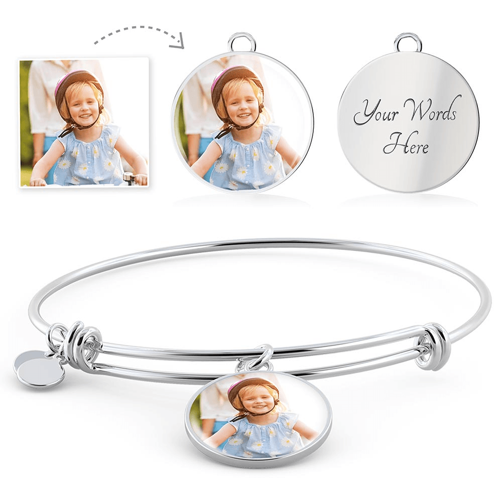 Family Personalized Photo Bangle Bracelet | Heroic Defender