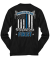 Proud Police Dad Thin Blue Line Shirt | Heroic Defender