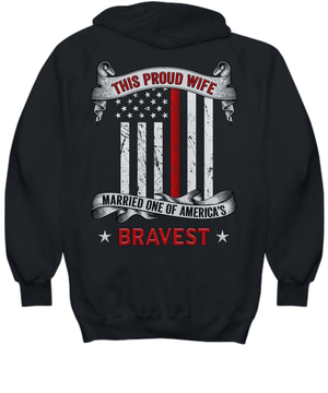 Proud Firefighter Wife Thin Red Line Sweatshirt | Heroic Defender